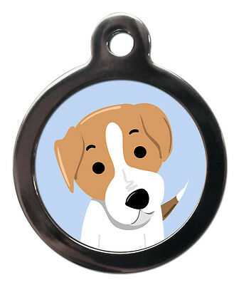 Jack Russell Breed Cute Fun Pet Tags - Dog Cat ID Collar Tag - ENGRAVED FREE
