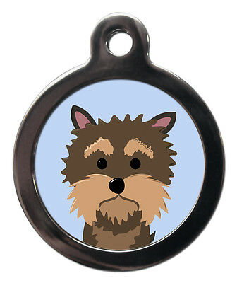 Yorkie Yorkshire Terrier Breed Cute Fun Pet Tags - Dog Cat ID Collar Tag