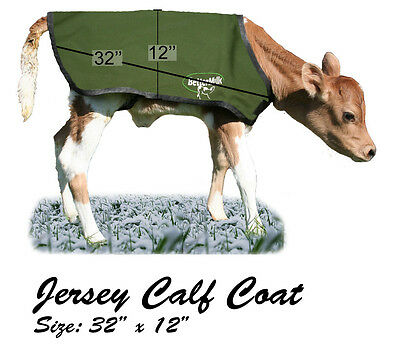 BetterMilk Small Green Jersey Insulated Calf Blanket Coat Buy 3 Get 1 Free