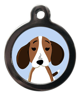 Beagle Breed Cute Fun Pet Tags - Dog Cat ID Collar Tag - ENGRAVED FREE