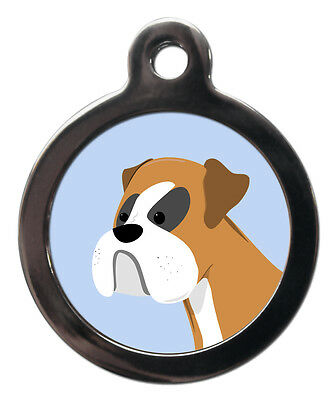 Boxer Dog Breed Cute Fun Pet Tags - Dog Cat ID Collar Tag - ENGRAVED FREE