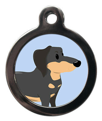 Dachshund Breed Cute Fun Pet Tags - Dog Cat ID Collar Tag - ENGRAVED FREE