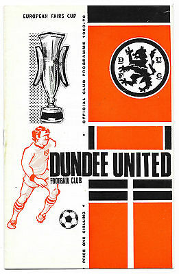 Dundee Utd v Newcastle Utd, 1969/70 - Inter-Cities Fairs Cup 1st Rd Programme