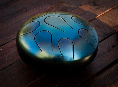 Handpan Drum Tongue 8 tones Steel  9 inches 22 sm Tank Hank + STICKS FREE