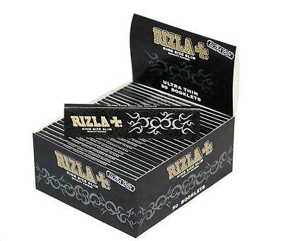 Rizla Black Kingsize Ultra Thin Slim Rolling Papers Cigarette Genuine
