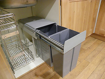 New 30L Pull Out Kitchen Waste Rubbish Recycle Bin - Under Sink Cabinet Sale