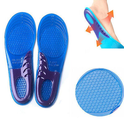 Gel Insoles Silicon Worker Boots Run Walk Shoes Comfort Arch Support Massaging