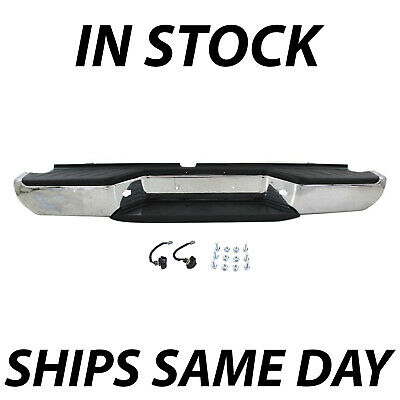 Chrome - Complete Steel Rear Bumper Assembly for 2005-2018 Nissan Frontier Truck