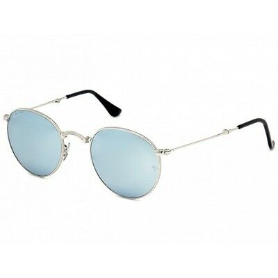 024ec3beba Ray-Ban RB3532 003 30 Round Folding Silver   Silver Flash 50mm Lens  Sunglasses