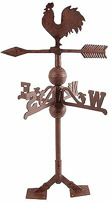 Classic Wind Vane Weatervane Rooster Cockerel Weather Indicator Cast Iron