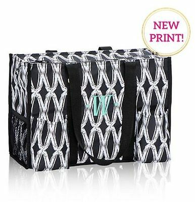NEW Thirty one Zip top Organizing utility tote bag 31 gift in Black links