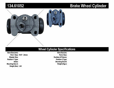 Drum Brake Wheel Cylinder Rear Left Centric fits 39-47 Ford 1/2 Ton Pickup