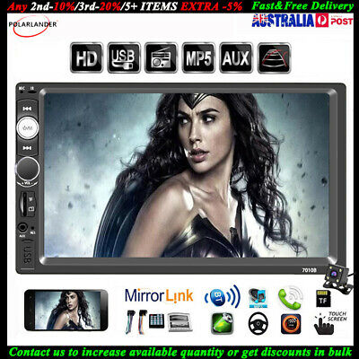 """7""""2Din Touch Car MP5+Camera FM In-Dash Bluetooth Radio Player Mirror Link Stereo"""