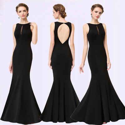 US Seller Ever Pretty Long Black Bridesmaid Evening Formal Dresses Party 08866