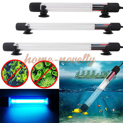 UV-C UV Light Sterilizer Aquarium Fish Tank Koi Pond Water Clarifier Filter Lamp