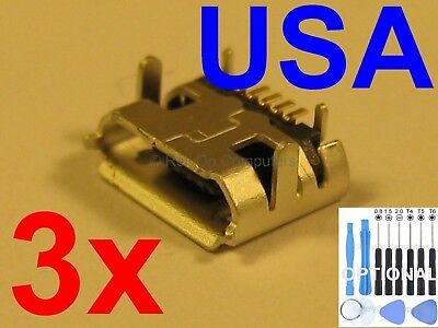 3X LOT MICRO USB Charging Port Charger for Nextbook Ares 8 NXA8QC116R  Tablet USA