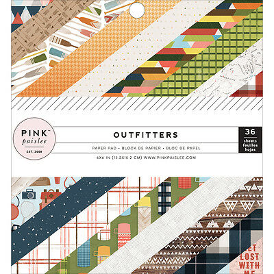 """Pink Paislee Single Sided Paper Pad 6""""X6"""" 36/Pkg Outfitters, 18 Designs/2 Each P"""