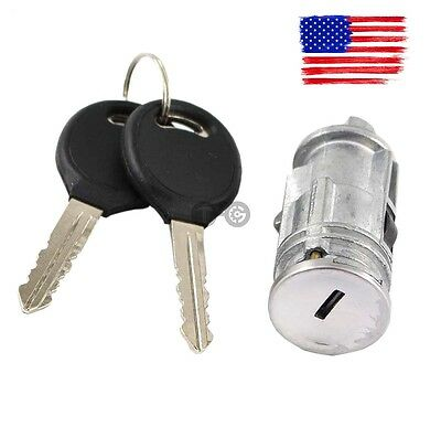 Ignition Switch Lock Cylinder + 2 No-Chip Keys for Chrysler Dodge Jeep Plymouth