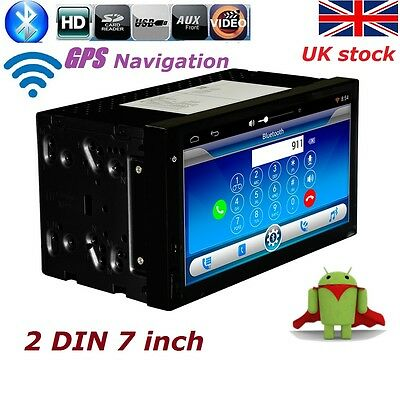"7"" Car GPS Navigation Radio 2DIN Car Stereo DVD Player MP3 Bluetooth Android 4.4"