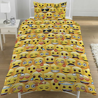 Funda Nordica Juvenil Reversible Emoji Emoticonos Diseño Exclusivo Cama 90
