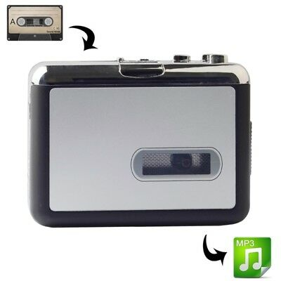 ELETTRONICA USB Cassette Tape to MP3 Converter Capture Audio Music Player