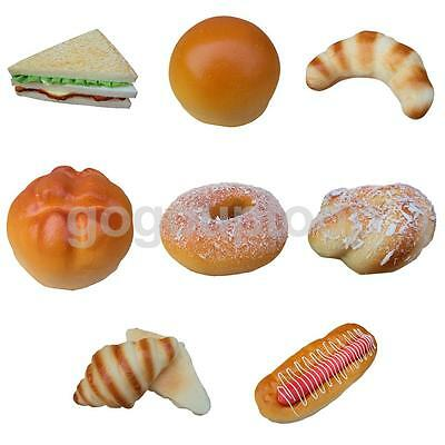 Realistic Fake Bread Food Sandwich Kitchen Food Pretend Bakery Staging Props
