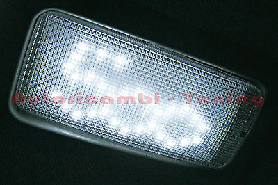 Luce Plafoniera Interna Abitacolo Luce Bianca Fiat 500 A Led Smd Tuning 12500
