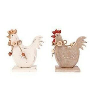 New Sass & Belle Wooden country shabby chic hen decoration cream