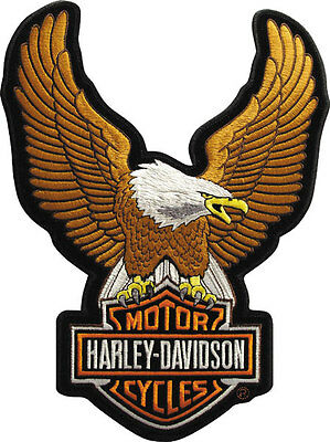 "Harley-Davidson Aufnäher/Emblem ""UPWING EAGLE BROWN"" Patch *EMB328394* groß"