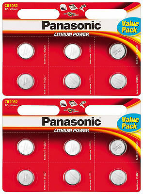 CR2032 Coin Cell Button Batteries Panasonic 12 Pack 2032 Lithium