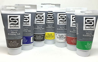 Speedball Oil Based Block Printing Ink - Waterproof Permanent Lino Paper Card