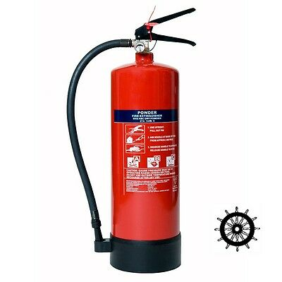 Med Marine Ship's Wheel 12Kg Abc Powder Fire Extinguisher *fast & Free Shipping*