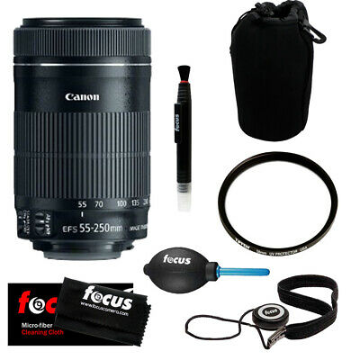 Canon EF-S 55-250mm f/4.0-5.6 IS STM Telephoto Zoom Lens  + Kit