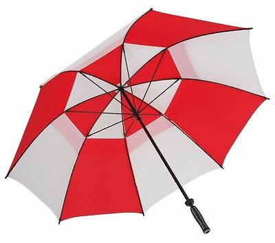 Big Golf Umbrella with Wind Resistant & WindProof Vented Canopy - Red and White