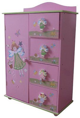 Kids Cabinet Drawers Girls Bedroom Colourful Faires Pink Children Home Storage
