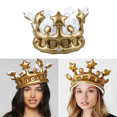 Creative Inflatable Birthday Cosplay Birthday Hats Crown Supplies Tools