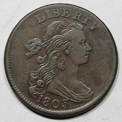"1803 s-244 R4 Draped Bust ""Sm Date, Sm Fraction"" Large Cent Coin 1c"
