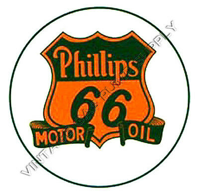 """Phillips 66 Motor Oil 2"""" Water Transfer Decal (DW317)"""