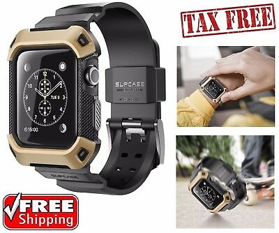 Apple Watch 38mm Case SUPCASE Bumper Shell Strap Rugged iWatch Protective Cover