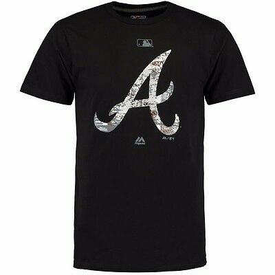 MLB Baseball T-Shirt ATLANTA BRAVES Clubhouse Fashion Authentic Collection