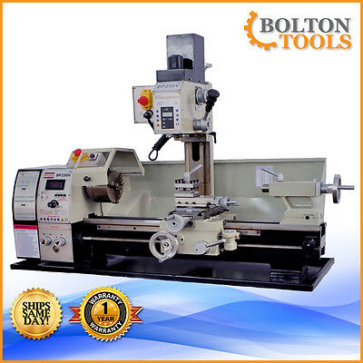 "NEW Bolton Tools BP250V Lathe 10"" x 22"" Combo Gear Head Metal Free Shipping!"