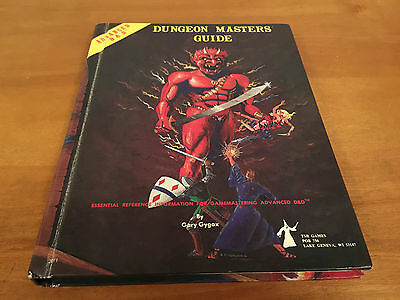 AD&D Dungeons and Dragons Dungeon Masters Guide DMG Revised Ed 1979 great shape
