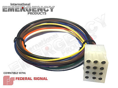 12 PIN PLUG Harness Cable for Federal Signal Smart Siren ... Federal Signal Xst Wiring Diagram on