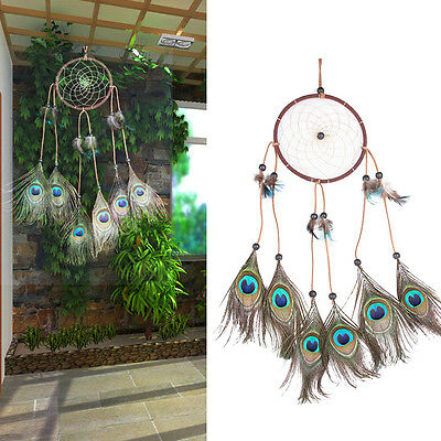 New Dream Catcher Peacock Feather Home Wall Hanging Room Decoration Ornament