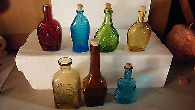 Lot of 7 Mini Bottles Wheaton