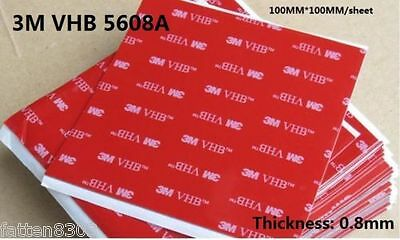 3M VHB 5608A ACRYLIC FOAM DOUBLE SIDED Tape 100mm*100mm ( Accept customize size