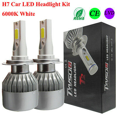 110w h7 cree led ampoule phare light headlight kit 6000k. Black Bedroom Furniture Sets. Home Design Ideas