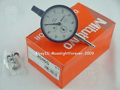 Brand New Mitutoyo 2046S Dial Indicator 0.01mm Grad SDH040