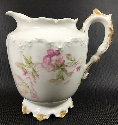 Haviland & Co Limoges Cherry Blossom Creamer Pink Gold Imperfect D