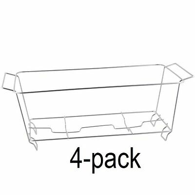 4 PACK Buffet Chafer Food Warmer Wire Frame Stand Rack Full Size Chafing Dish